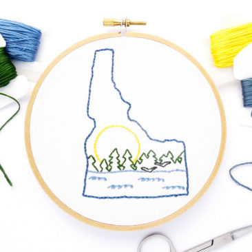 Idaho Hand Embroidery Pattern