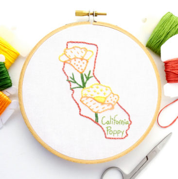 California Flower Hand Embroidery Pattern {California Poppy}