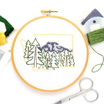 Washington Hand Embroidery Pattern