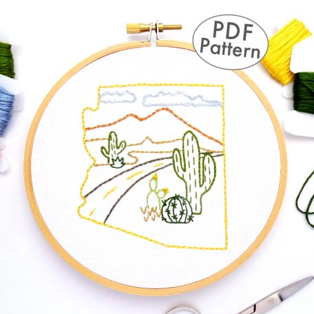 Arizona Hand Embroidery Pattern