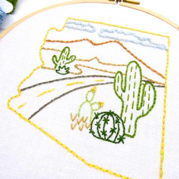 Arizona Hand Embroidery Pattern