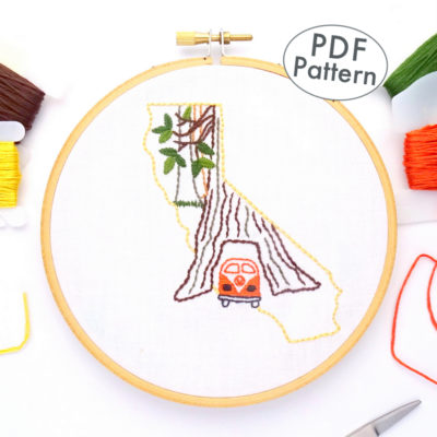California Hand Embroidery Pattern