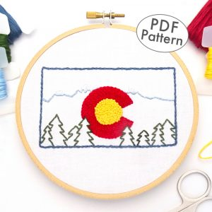 Colorado Flag Hand Embroidery Pattern