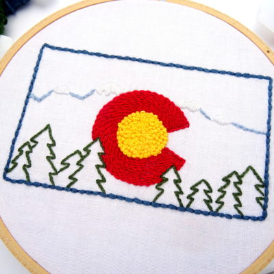Colorado Hand Embroidery Pattern