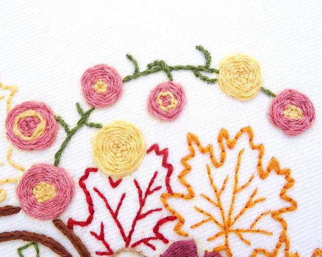 Bountiful Cornucopia Hand Embroidery Pattern