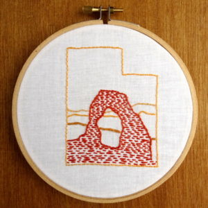 Utah State Embroidery Pattern