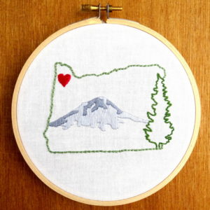 Oregon State Embroidery Pattern