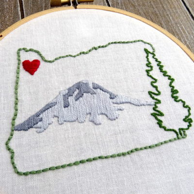 Oregon State Hand Embroidery Pattern