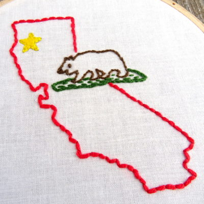 Utah Diy Hand Embroidery Pattern Wandering Threads Embroidery