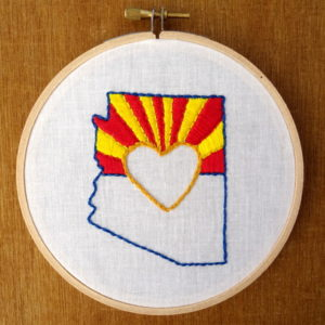 Arizona State Embroidery Pattern