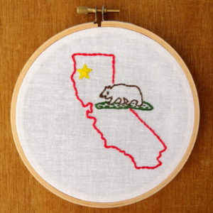 California State Embroidery Pattern