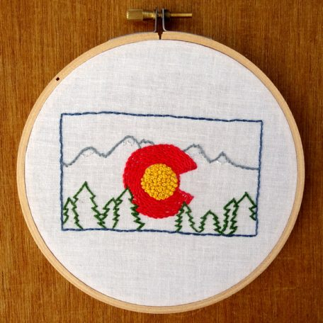 Colorado State Embroidery Pattern