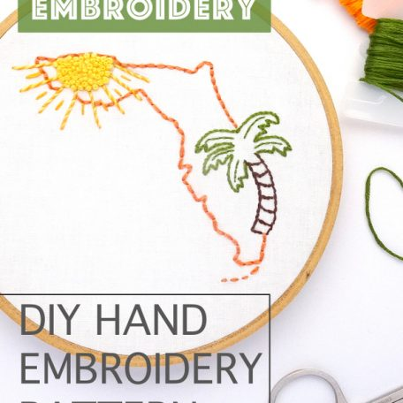 florida-hand-embroidery-pattern
