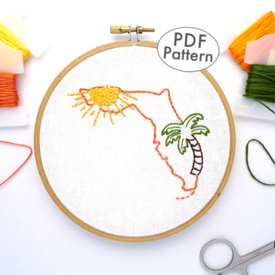 Florida Hand Embroidery Pattern