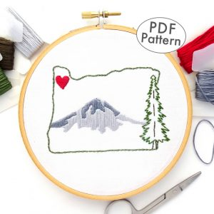 Oregon Hand Embroidery Pattern