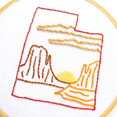 Utah Hand Embroidery Pattern