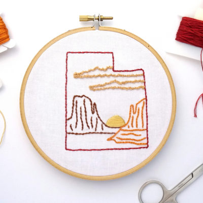 Utah DIY Hand Embroidery Pattern
