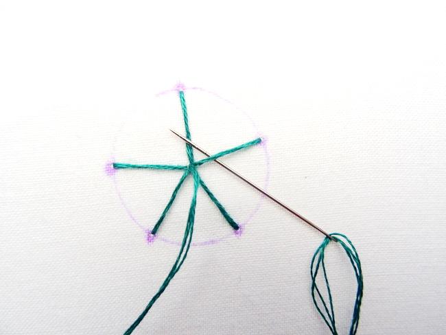 Spider Web Stich Tutorial