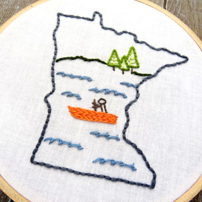 Minnesota State Hand Embroidery Pattern