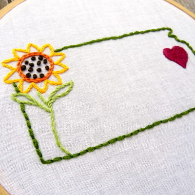Kansas State Hand Embroidery Pattern