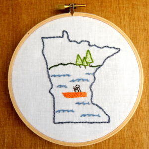 Minnesota State Embroidery Pattern
