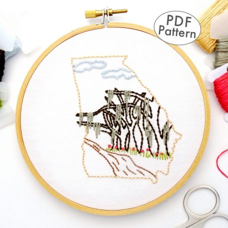 Georgia Hand Embroidery Pattern