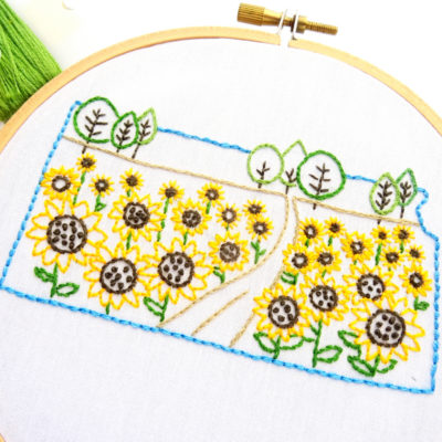 Kansas Hand Embroidery Pattern