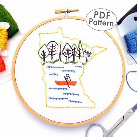 Minnesota Hand Embroidery Pattern