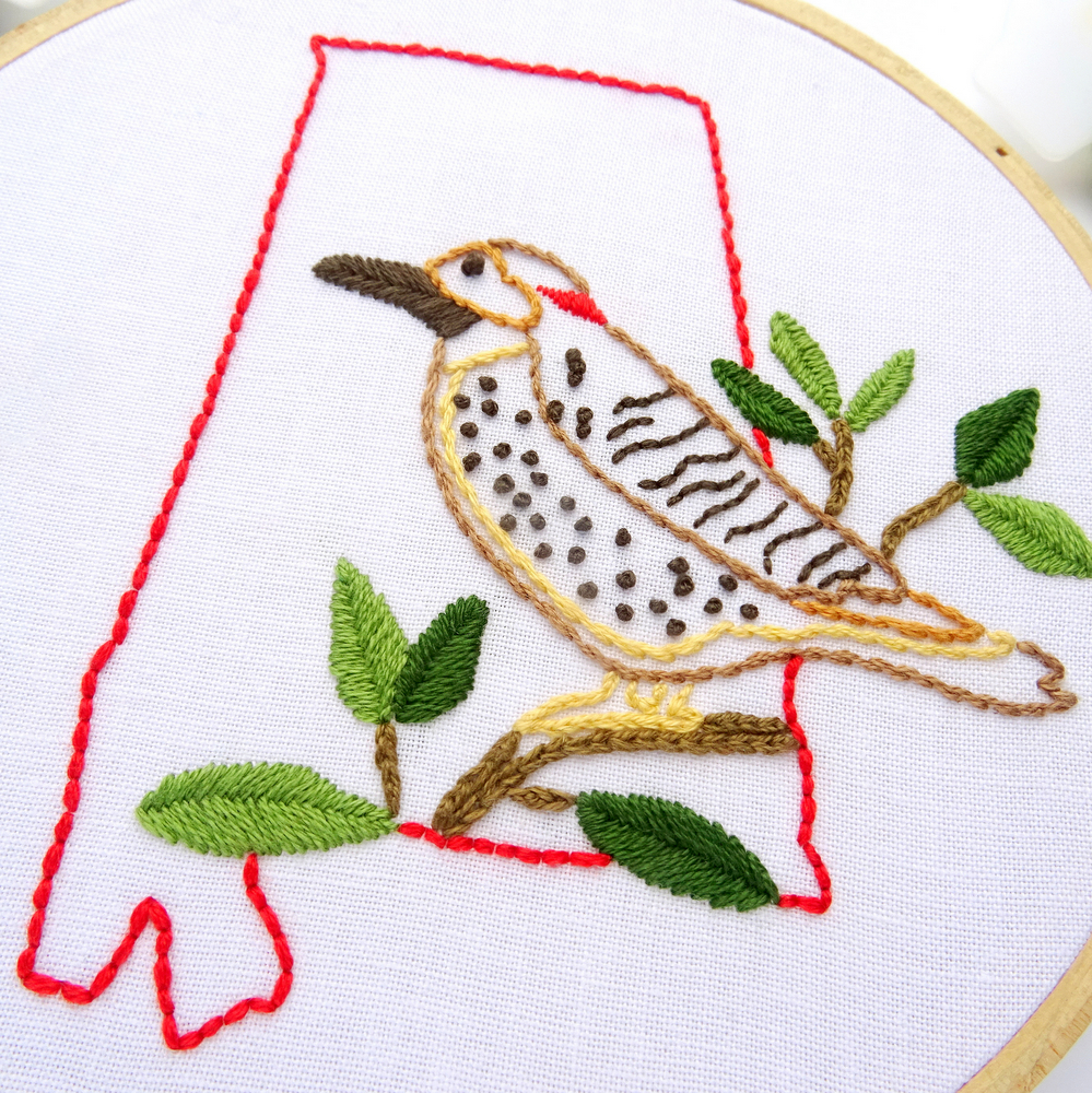 Alabama DIY Hand Embroidery Pattern