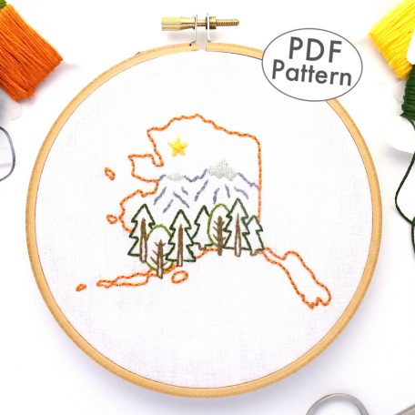 Alaska Hand Embroidery Pattern