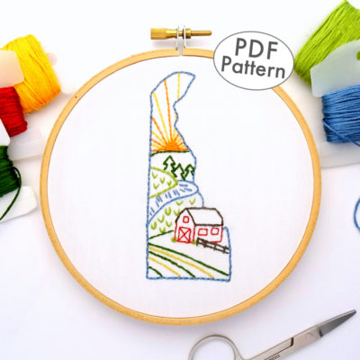 Delaware Hand Embroidery Pattern