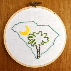 South Carolina State Embroidery Pattern