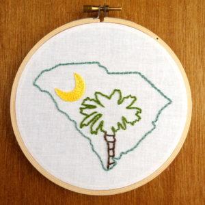 South Carolina State Embroidery Pattern