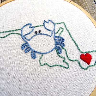 Maryland State Hand Embroidery Pattern
