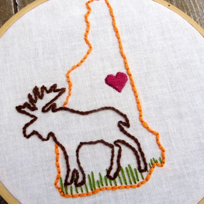 New Hampshire State Hand Embroidery Pattern
