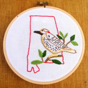 Alabama State Embroidery Pattern