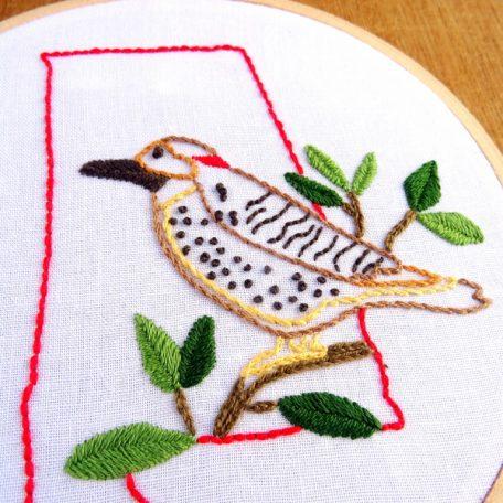 Alabama State Embroidery Pattern