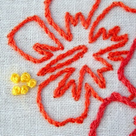 Hawaii State Embroidery Pattern