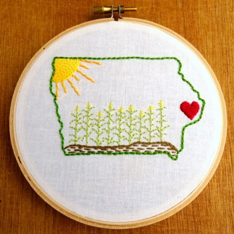 Iowa State Embroidery Pattern