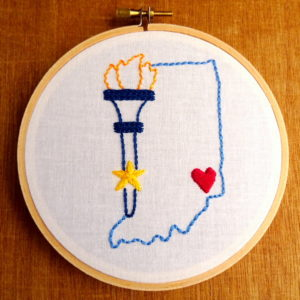 Indiana State Embroidery Pattern