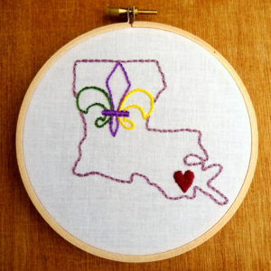 Louisiana State Embroidery Pattern