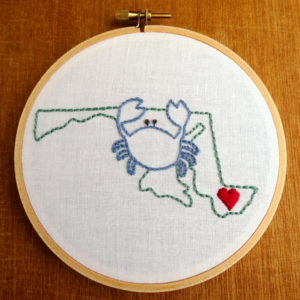 Maryland State Embroidery Pattern