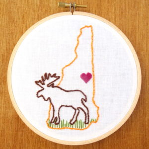 New Hampshire State Embroidery Pattern