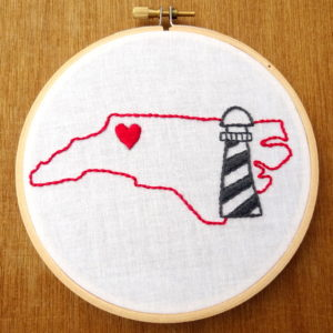 North Carolina State Embroidery Pattern