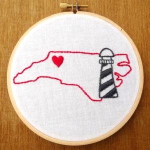 North Carolina State Embroidery Pattern
