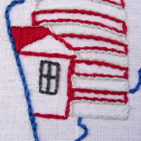 Maine State Embroidery Pattern