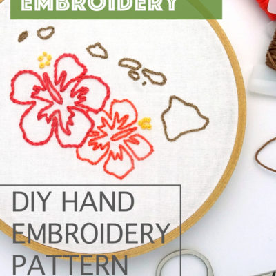 Hawaii Hand Embroidery Pattern
