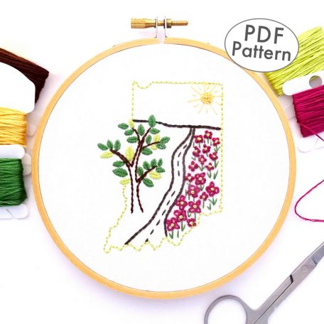 Indiana Hand Embroidery Pattern