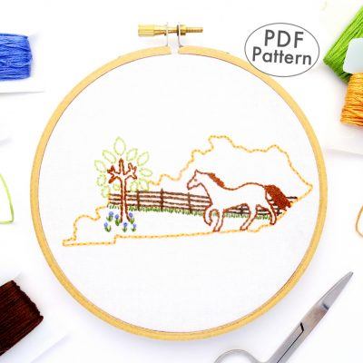 Kentucky Hand Embroidery Pattern