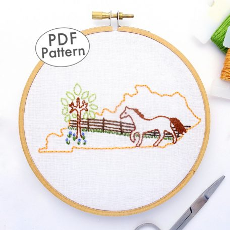 Kentucky DIY Hand Embroidery Pattern
